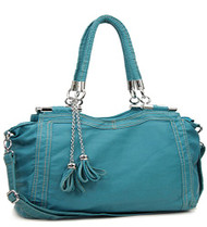 Blue Retro Designer Inspired Tassle Purse