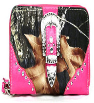 Western Pink Camouflage Buckle Wristlet