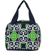 Geometric Sailor Print Insulated Lunch Tote Bag