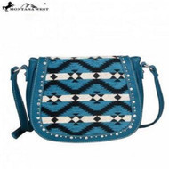 Montana West Aztec Collection Messenger Purse-Turquoise
