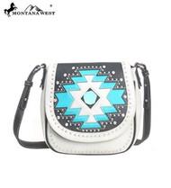 Montana West MW105-8287 Aztec Collection Western Handbag Purse-Beige
