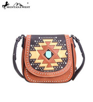 Montana West MW105-8287 Aztec Collection Western Handbag Purse-Brown