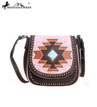 Montana West MW105-8287 Aztec Collection Western Handbag Purse-Coffee