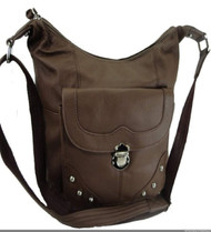Concealed Carry Handbag Gun Concealment Purse Left/Right Hand 7005 BROWN