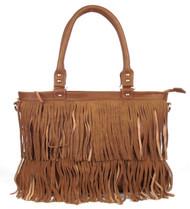 Large Brown Fringe Fashion Handag