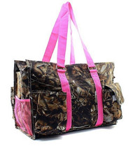 Camouflage Canvas Multipurpose Utility Tote Bag Shopping Travel Pink