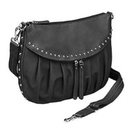 GTM-50 Studded Uptown Black Pleated Concealed Carry Purse