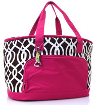 Brown Vine Print Insulated Cooler Bag