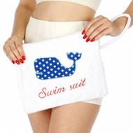 Knitting Factory Water Proof Wet Bikini Bag Selection (Whale White)