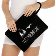 Knitting Factory Water Proof Wet Bikini Bag Selection (Black)