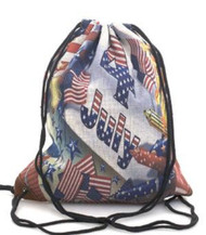 4th of July Drawstring Backpack