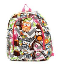 Owl Chevron Backpack Hp