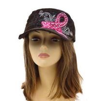 Brown BREAST CANCER AWARENESS FASHION Vintage Original hat