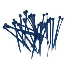 "MR. GASKET 4223G BLUE REUSABLE 4"" LONG 25PCS NYLON ZIP TIE STRAPS"