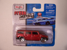 Maisto Fresh Metal Die-Cast Vehicles ~ 2003 Hummer H2 SUV (Red)