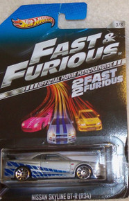 Hot Wheels Fast & Furious 2 Fast 2 Furious Official Movie Merchandise Limited Edition Nissan Skyline GT-R (R34) 3/8