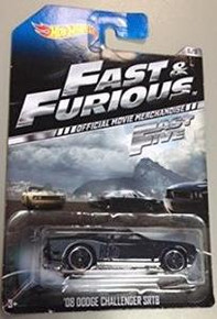 Hot Wheels Fast & Furious Official Movie Merchandise Fast 5 '08 Dodge Challenger SRT8 6/8