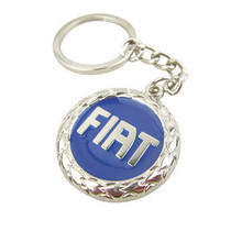 FIAT 3D Blue Logo Key Chain Ring