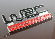 WRC FIA WORLD RALLY  FRONT GRILLE EMBLEM - BRAND NEW