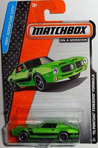 2014 Matchbox MBX Adventure City '71 Pontiac Firebird Formula - Green
