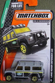 MATCHBOX 2014 RELEASE GRAY LAND ROVER DEFENDER 110 DIE-CAST 55/120
