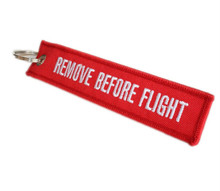 Remove Before Flight Lanyard Key Chain (Red)