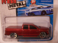 Maisto Fresh Metal Die-Cast Vehicles ~ 2002 Dodge Ram Quad Club (Red)