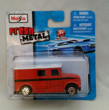 Maisto Fresh Metal Die-Cast Vehicles ~ Armored Van (Red w/White Roof)