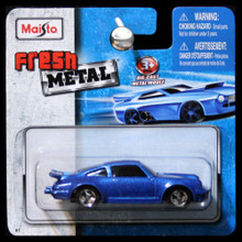 Maisto Fresh Metal Die-Cast Vehicles ~ Porsche 911 Turbo #3 (Metallic Blue)