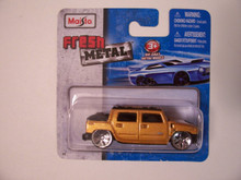 Maisto Fresh Metal Die-Cast Vehicles ~ 2001 Hummer H2 SUT Concept (Golden)