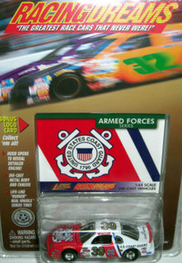 Johnny Lightning Racing Dreams Armed Forces Series USCG United States Coast Guard 1:64 Die-cast