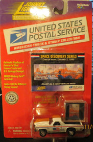 Johnny Lightning Limited Edition USPS United States Postal Service American Truck & Stamp Collection 1971 Chevy El Camino Space Discovery Series