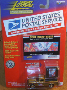 Johnny Lightning Limited Edition USPS Unites States Postal Service American Truck & Stamp Collection 1960 Studebaker Space Fantasy Series
