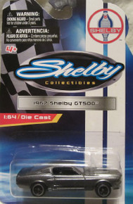 Shelby Collectibles 1967 Shelby GT500 1:64 Scale Die-cast (Gray with Dual Black Stripes)