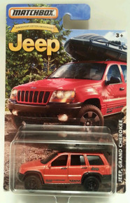 MATCHBOX LIMITED EDITION JEEP ANNIVERSARY EDITION ORANGE JEEP GRAND CHEROKEE DIE-CAST