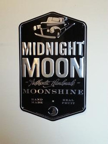 "Midnight Moon Moonshine 12.25""X20"" Metal Sign"