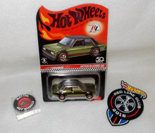 Hot Wheels 2018 Red Line Club Exclusive Datsun Bluebird 510 (with Patch and Coin)