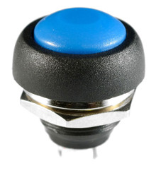 WATERPROOF BLUE PUSH BUTTON 12V MOMENTARY SWITCH BUTTON AUTO / BOAT / MOTORCYCLE