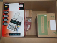 CLEARANCE: 1 Box #13859 - 7 units of Electronic Time Clock, Mini Swipe Reader & More from Staples - MSRP 1310$ - Open Box (Tested Working)