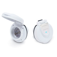 Furrion 30A 125V Power Smart Round Inlet - White [F30ITR-PS-AM]