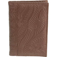 Casual Outfitters™ Brown Solid Genuine Leather Passport Cover
