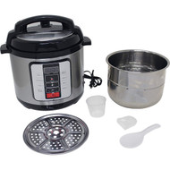 Wholesale lot of (2) Precise Heat 6.3Qt. Electric Pressure Cooker –Stainless Steel Inner Pot