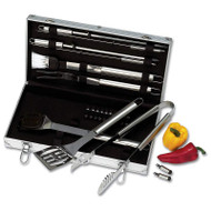 Wholesale lot of (4) Chefmaster 22pc Stainless Steel Barbeque Tool Set