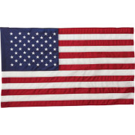 "Wholesale lot of (20) 4' x 30"" United States Flag and 2pc Wood Pole Kit"