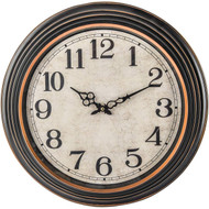 "Wholesale lot of (6) 20"" ANTIQUE BLACK ROUND WALL CLOCK"