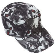 Wholesale lot of (150) Casual Outfitters Red Eye Skull Design Cap