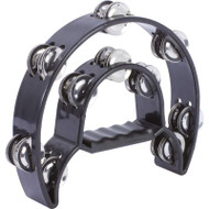 Wholesale lot of (36) Maxam Black Double Cutaway Tambourine