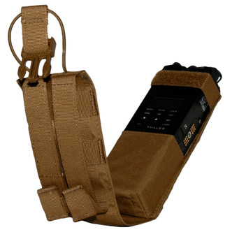 ATS Tactical Gear MBITR Tip-Out Radio Pouch in Coyote Brown