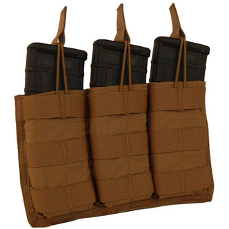 ATS Tactical Gear Triple M4 Mag Shingle in Coyote Brown
