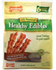 Nylabone Healthy Edibles Longer Lasting Bacon Regular Pouch 6ct